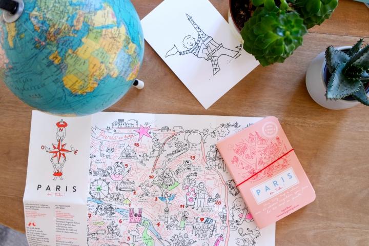 MINI MINI MAP ! Un city guide pour visiter Paris en tribu, de manière ludique